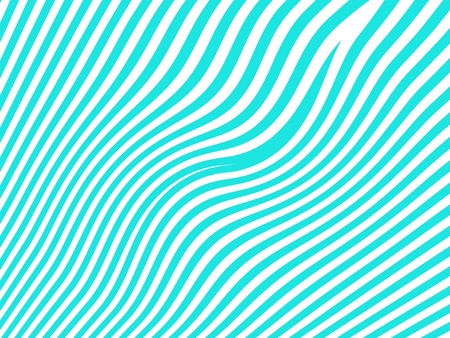 Blue curves as zebra lines waves isolated on white photo