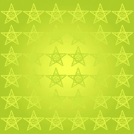 Mosaic tile of stars in bright green background photo