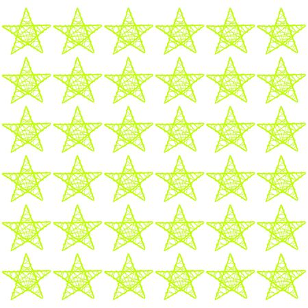 Light green five points stars pattern in a white square photo