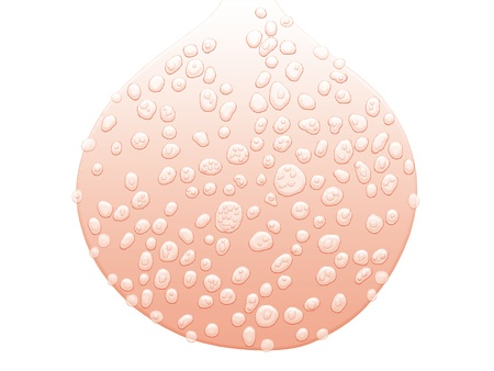 elastic: Light pink drop sweating sweat of drops isolated on white