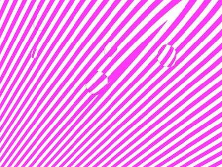 Pink and white fantasy zebra striped background with optic effect of few water drops photo