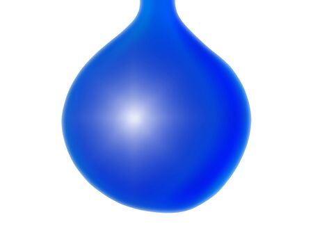 Blue water drop or xmas balloon isolated on white background photo