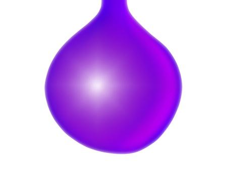 liquid x: Purple violet drop or xmas balls isolated over white Stock Photo