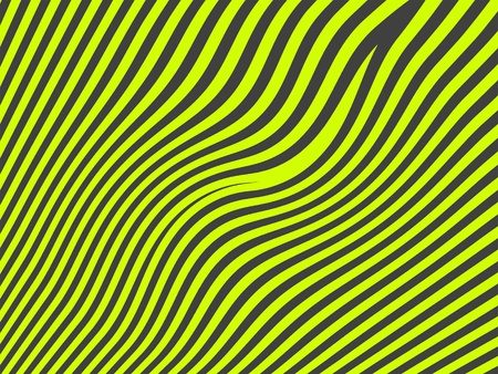 bicolor: Juvenile funky fluorescent striped pattern in green and black