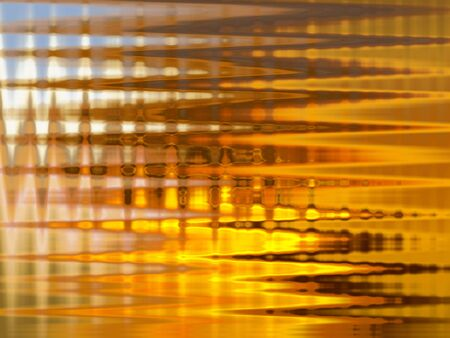 transparence: Striped transparent glass with yellow light behind in abstract background