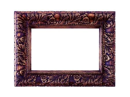 decorative item: wood frame Stock Photo