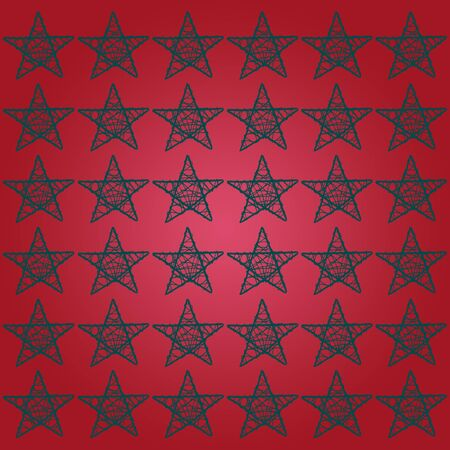 Xmas starry red square background photo