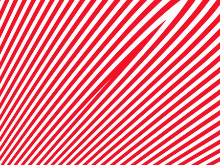 Straight striped in diagonal lines red and white background photo