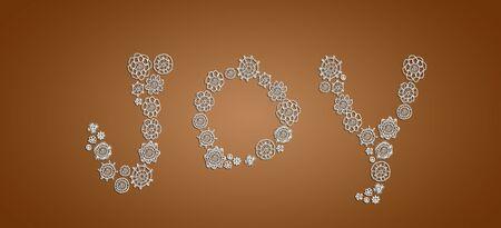sobrio: Alegr�a en las flores de ganchillo de �poca sobre el caf� sobrio marr�n