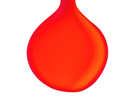 liquids: Red warming brilliant idea bulb isolated on white background