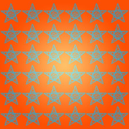Starry Halloween orange background photo
