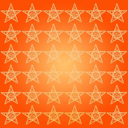 subtlety: Protective white five points stars over orange halloween background
