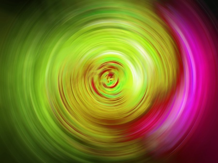 Bright light green and pink swirl spiral blurry background