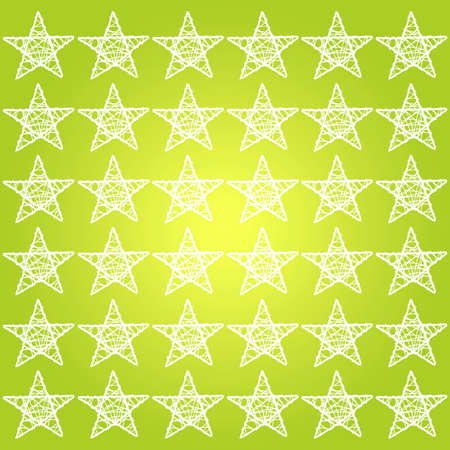 White stars pattern over bright yellowish green background photo