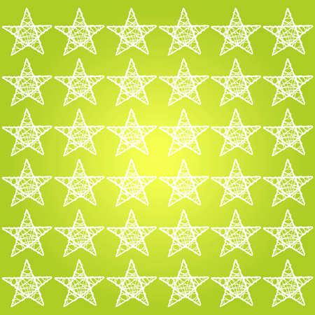 White stars pattern over bright yellowish green background photo