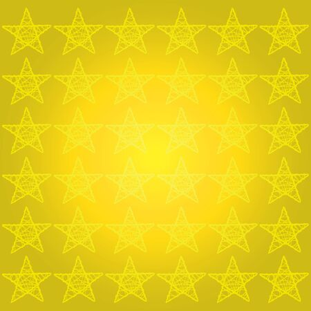 Monochrome bright starry background with gold yellow stars photo