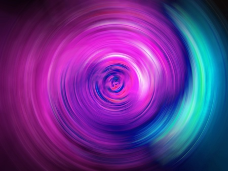 Electric energy tunnel of light in pink and blue background photo