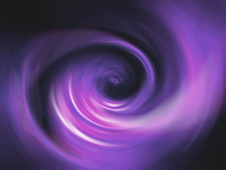 Violet energizing spiral of light in the darkness of the background photo