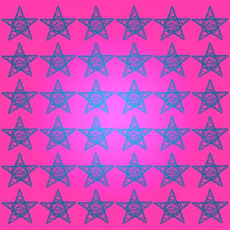 Blue stars, pink background, symbol of success Stock Photo - 13525245