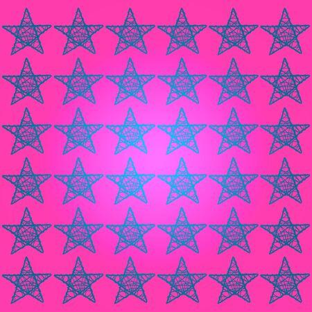 Blue stars, pink background, symbol of success Stock Photo - 13525245