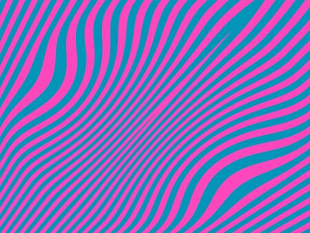 Psychodelic zebra pattern in pink and blue contrast