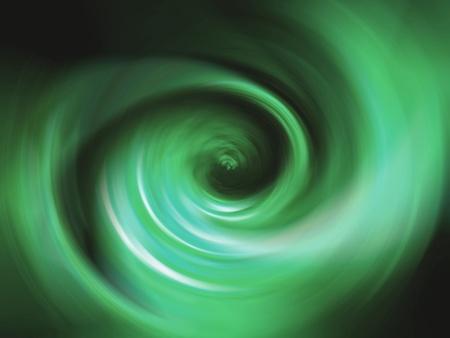 rotative: Green flame spiral over black background