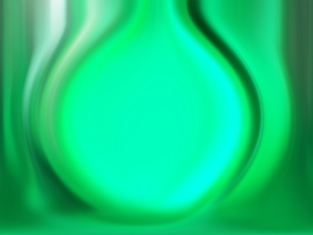 Luminous green light in a background like a flask with liquid in chemical reaction photo