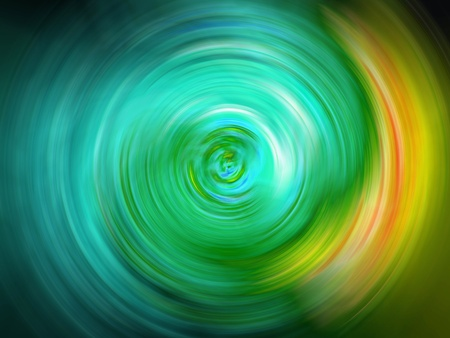 Turquoise aqua light rotating clockwise fast Stock Photo