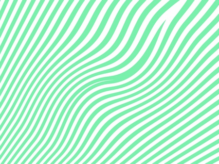 diagonal stripes: Light zebra curved striped pattern background in white and green Stock Photo