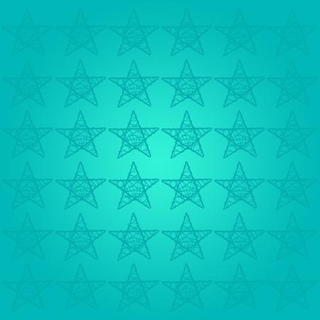 Turquoise fond �toil� pour le succ�s Banque d'images - 13525439