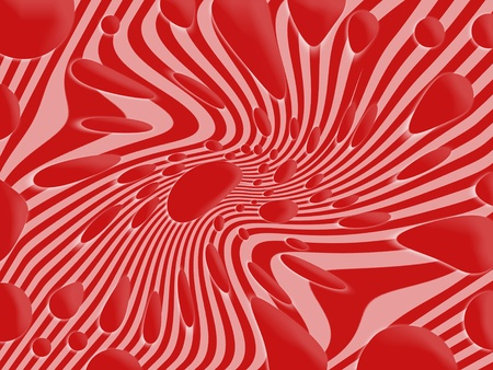 Psychedelic red background photo