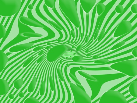 liquids: Psychedelic green background
