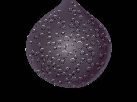 Dark heavy iron ball with water drops isolated on black background Stock Photo - 13525357