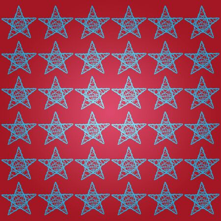 Blue stars over garnet red background photo