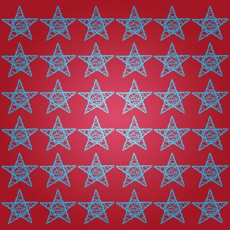 Blue stars over garnet red background Stock Photo - 13525646