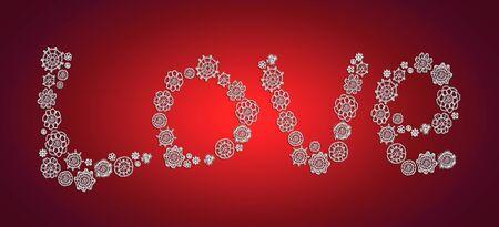 L'amour, noël, fond, chaud, crochet millésime Banque d'images - 13525602