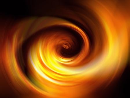 luminescence: Orange fire warm spiral tunnel in the darkness
