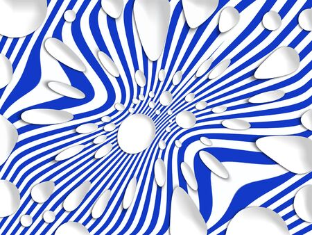 backdrop: Blue, white, spots, stripes, background