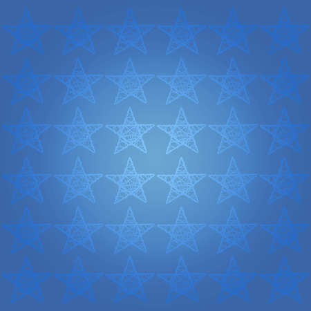 Blue subtle elegant glossy starry pattern with stars photo