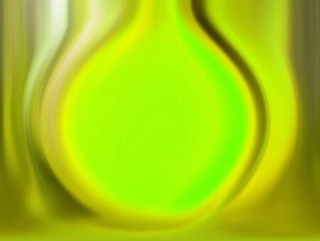 Radioactive waste, luminous fluorescent green drop photo