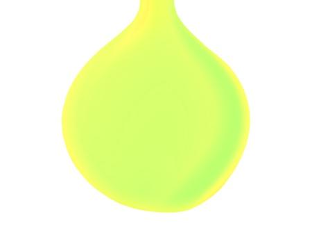 Lemon juice drop isolated on white background photo