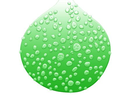 chlorophyll: Chlorophyll, healthy, dew, drop, isolated on white Stock Photo