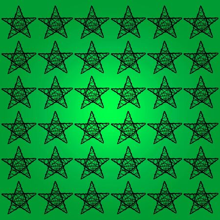 Black five points stars over green backdrop photo