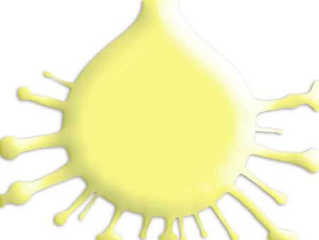 pale cream: Yolk drop splashing isolated over white background
