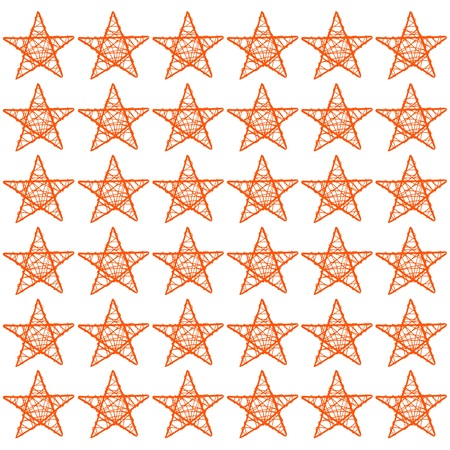 Orange five points protective stars for Halloween party on white background photo