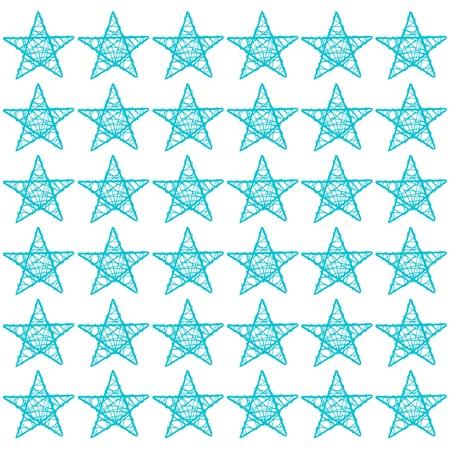 Estrellas de color turquesa, estrella, azul, blanco, mosaico, patr�n de Foto de archivo - 13556376