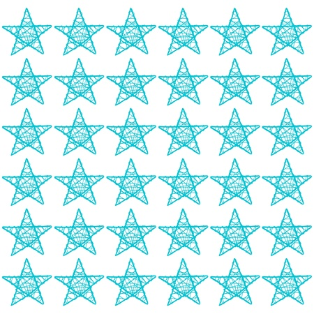 Turquoise stars, star, blue, white, mosaic, pattern photo