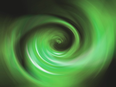 rotative: Green light like a tunnel of light in black space Stock Photo