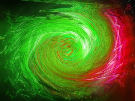 Radiactive electronic lights background in green and pink photo