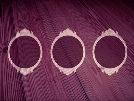 Sober femenine frames in vintage wood background photo